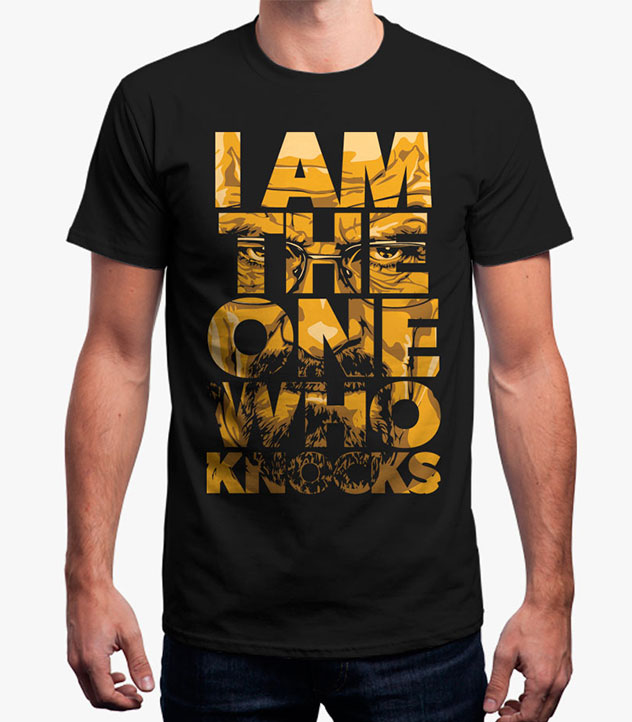 buy breaking bad i am the one who knocks t shirt gameloot. Black Bedroom Furniture Sets. Home Design Ideas