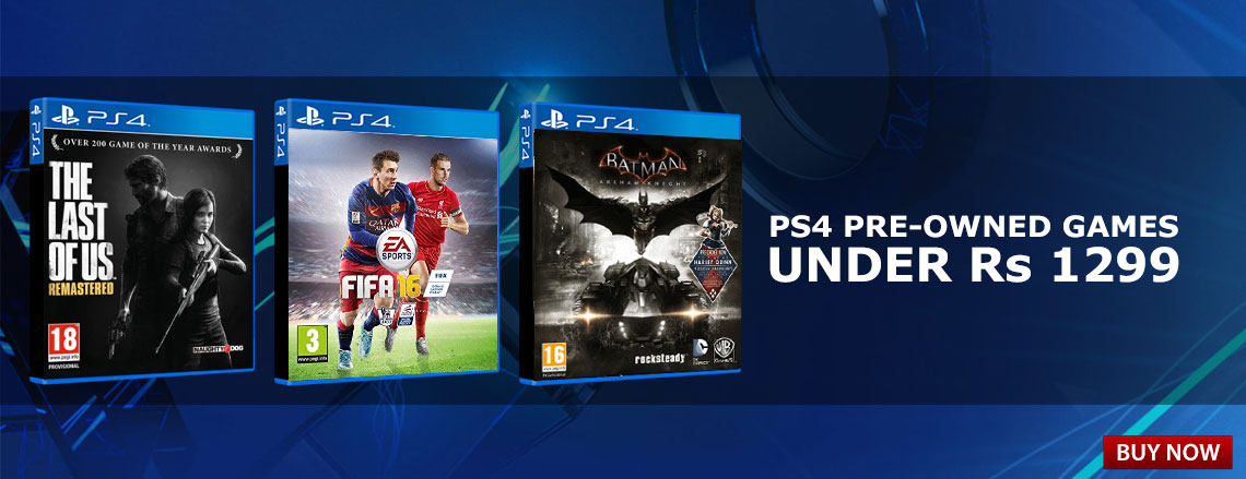 PS4 Pre-owned games under Rs. 1299