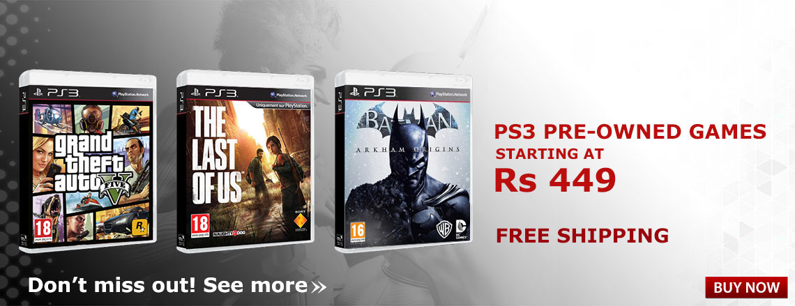 PS3 pre-owned games starting at Rs 449