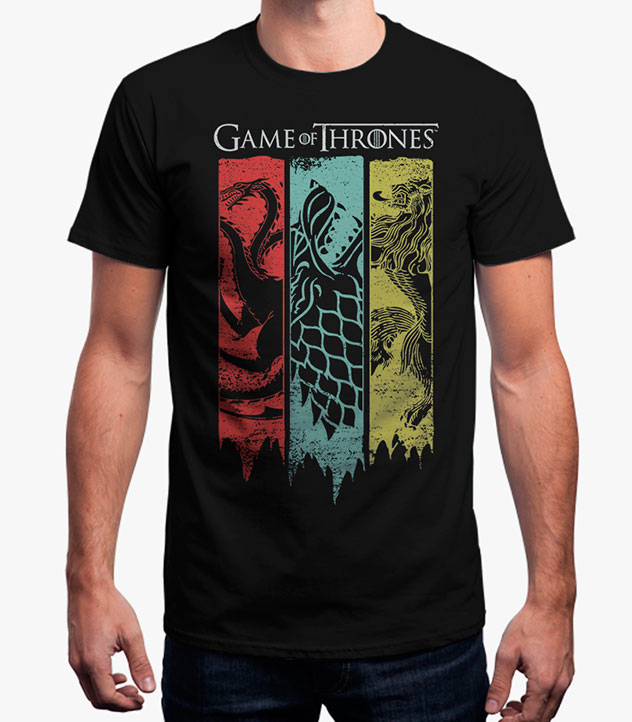 Buy Sigil Banner - Game Of Thrones Official T-shirt - GameLoot