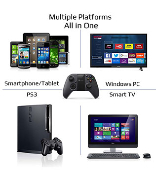 Buy MYGT Bluetooth Wireless Gaming Controller for PS3 PC Android Smartphone  Windows VR TV Box - GameLoot