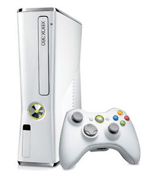 Microsoft Xbox 360 (S) Slim White 4 GB PAL Region Xbox 360 (Pre-owned)