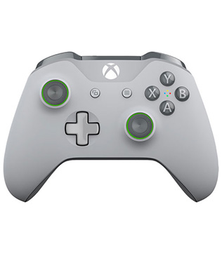 Xbox One-Microsoft Xbox One Wireless Controller Grey, Green-Pre-owned